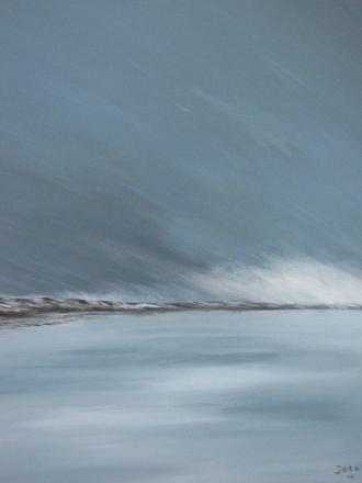 Sneeuwlandschap Texel  (acryl op doek, 60x80, 450,-)