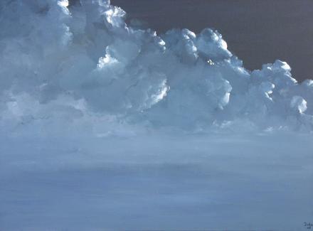 Volle Maan  (acryl op doek, 60x80, 450,-)